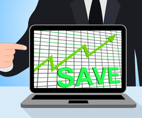 Save Chart Graph Displays Increasing Savings Investment