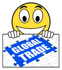 Global Trade Sign Shows Online International Business