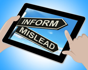 Inform Mislead Tablet Means Advise Or Misinform
