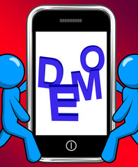 Demo On Phone Displays Development Or Beta Version