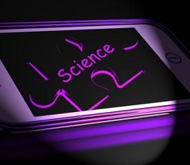 Science Smartphone Displays Biology Chemistry And Physics