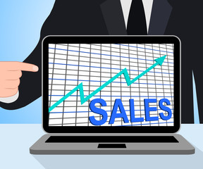 Sales Chart Graph Displays Increasing Profits Trade