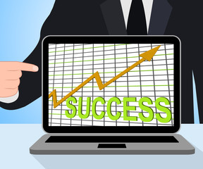 Success Chart Graph Displays Winning Or Successful