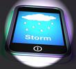 Showers On Phone Displays Rain Rainy Weather