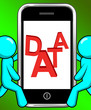 Data On Phone Displays Facts Information Knowledge