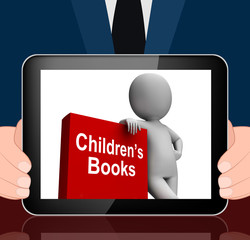 Children's Book And Character  Displays Reading For Kids