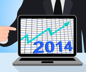 Twenty Fourteen Graph Chart Displays Increase In 2014