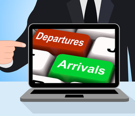 Departures Arrivals Keys Displays Travel And Vacation
