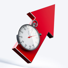 Stopwatch and arrow