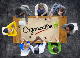 People in a Meeting and Organization Concept