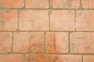 Red brick on the wall