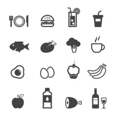 food and beverage icons