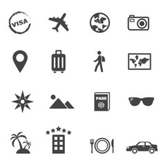 travel and holiday icons