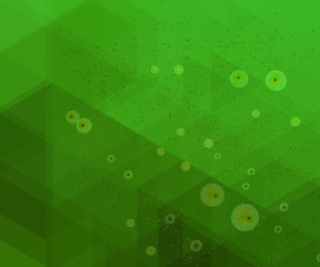 Green geometric grunge background