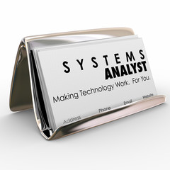Systems Analyst Business Card Holder Computer Technology Special