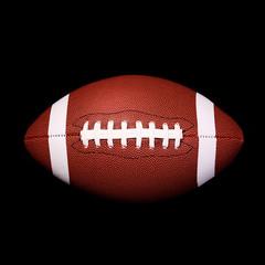 American Football Ball on black background