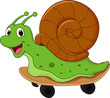 Cute cartoon snail - 69966043