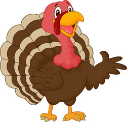 Cartoon turkey presenting