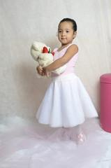 a bailarina e teddy
