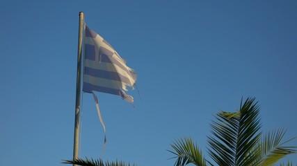 Tattered greece flag