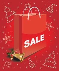 Christmas sale bag -the glitter of Christmas symbols