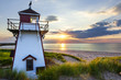 canvas print picture - Sunset at Covehead Harbour Lighthouse, PEI