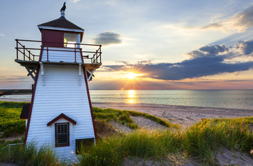 Sunset at Covehead Harbour Lighthouse, PEI