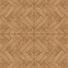 Wooden parquet floor with natural pattern