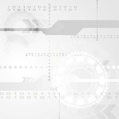 Abstract grey engineering tech background