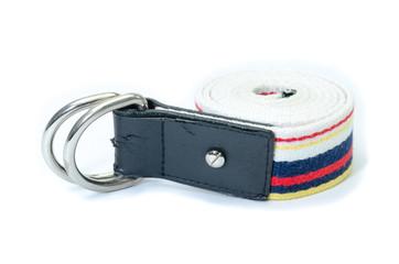 fabric strap belt isolated on white background