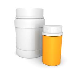 plastic medical bottles for pills or capsules