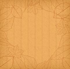 Autumn leaves background retro