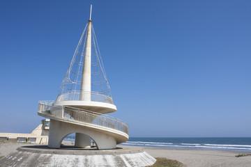 海と記念碑 千葉