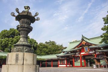 神社の境内 東京