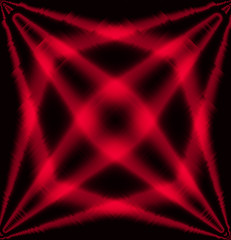 Red and black star effect light abstract background