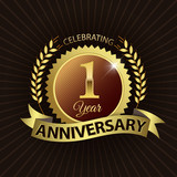 Celebrating 1 Year Anniversary - Laurel Wreath Seal & Ribbon