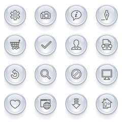 Basic icons with glossy buttons.