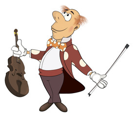 a violinist cartoon
