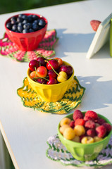 Bowls with berries