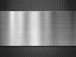 steel metal plate over grate background - 69970035