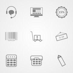 Contour icons for online store