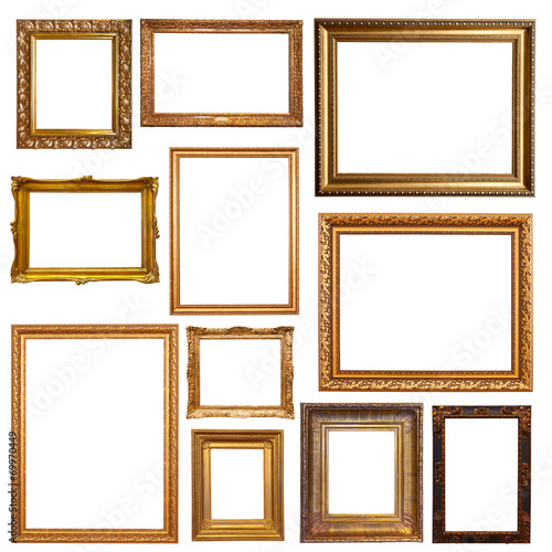 Old gold picture  frames - 69970449