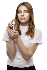 girl with perfume