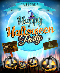Happy Halloween party. EPS 10