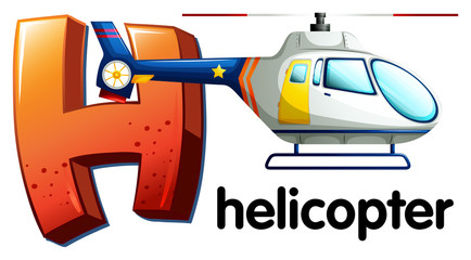 A letter H for helicopter
