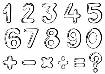 Different numerical figures