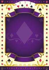 Pokergame purple background
