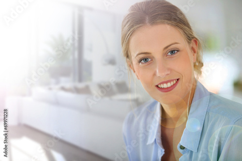 canvas print picture Portrait of beautiful real-estate agent