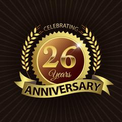 Celebrating 26 Years Anniversary - Laurel Wreath Seal & Ribbon