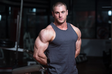 Portrait Of A Physically Fit Muscular Young Bodybuilder